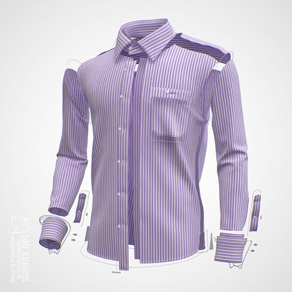 Men's shirt customizer poster